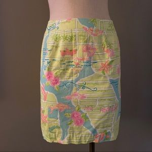Lily Pulitzer Map to Miami Skirt 2